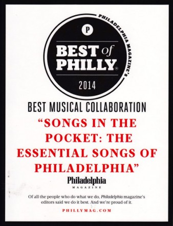 "In The Pocket has been awarded ""Best Musical Collaboration"" by Philadelphia Magazine"